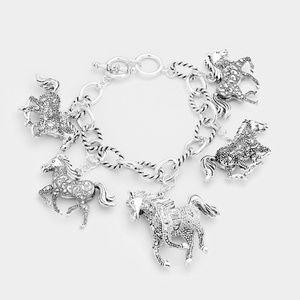 Jewelry - Running Horse Charm Station Bracelet